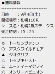 TENKEI札幌2歳無料予想